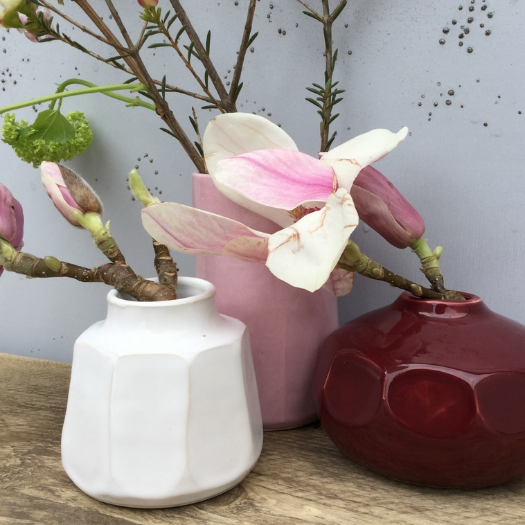 Vase, 9101 weiß glänzend