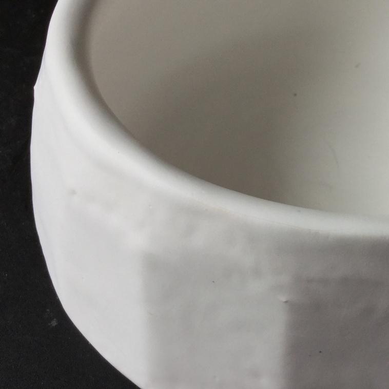 9107 Weiß matt, Schale