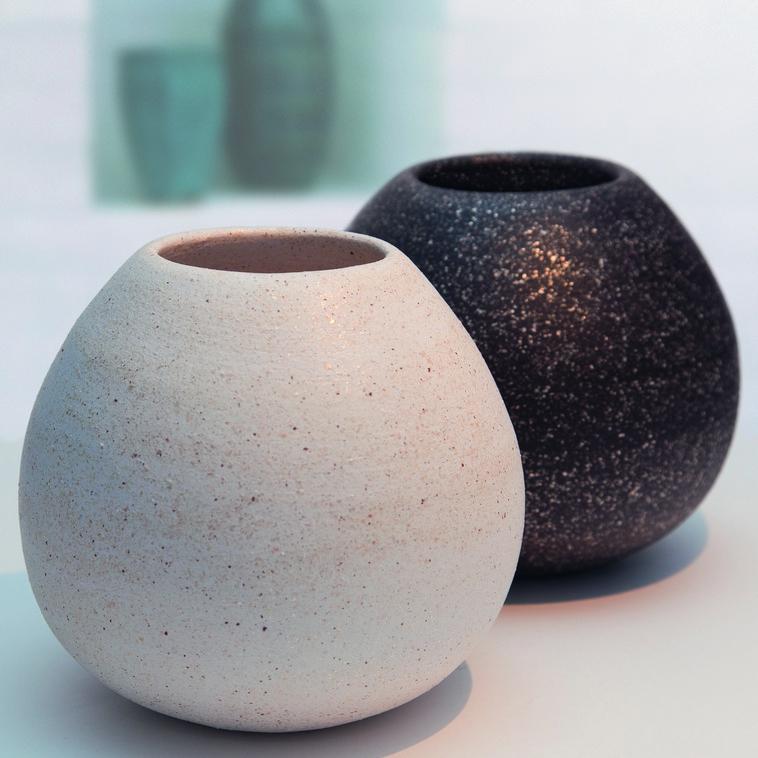 Vase, 9139 Schwarz Glimmer