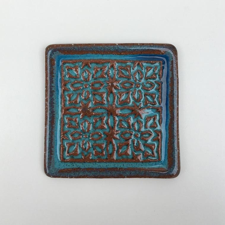 Fliese mit Relief, 9342 Wasserblau