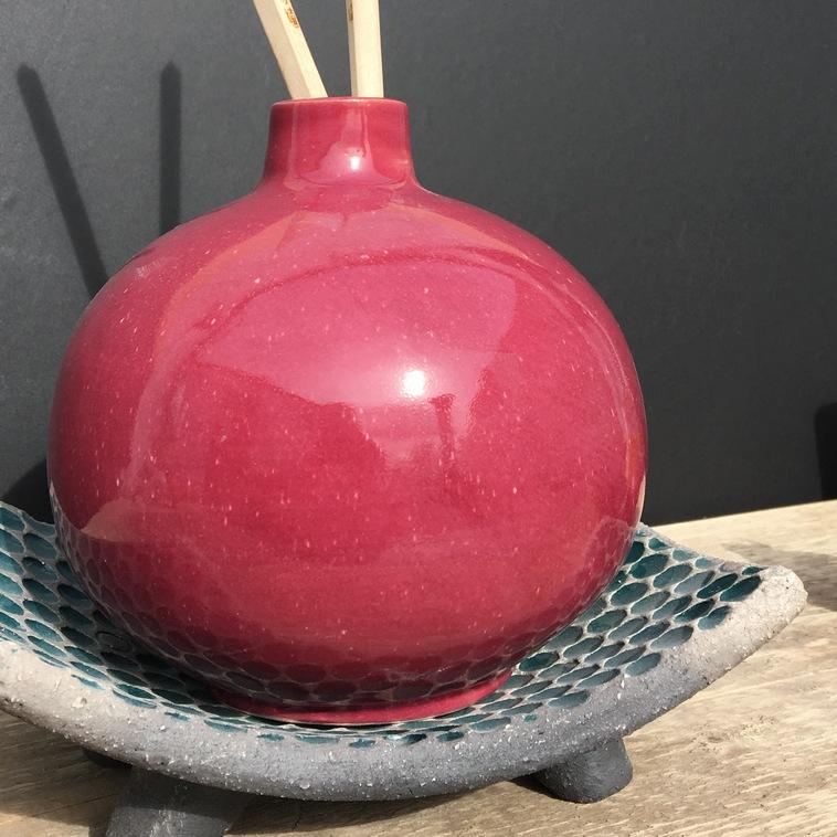 Vase, 9367 Brombeerrot