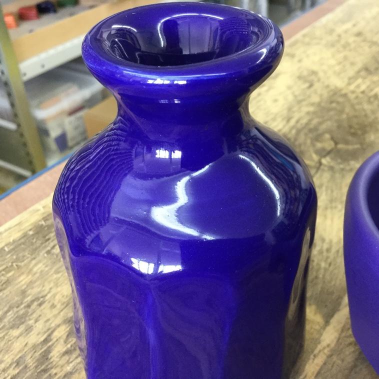 Vase, 9381 Royalblau
