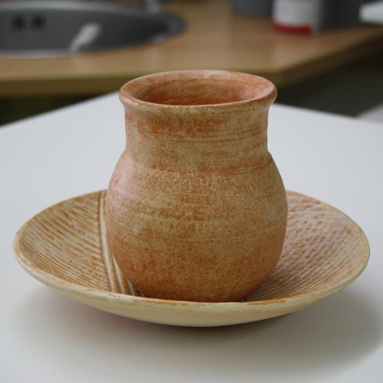 Vase und Teller, 9481 Terra