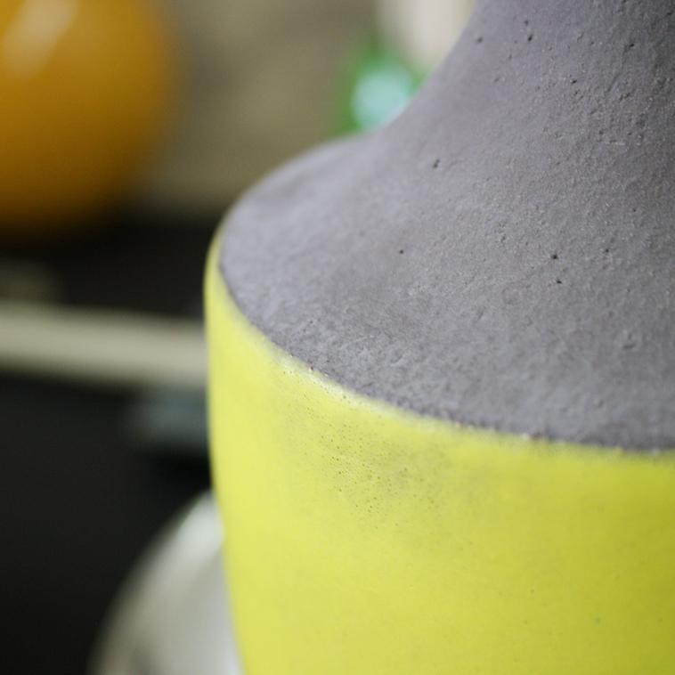 Vase, 9487 Gelb matt