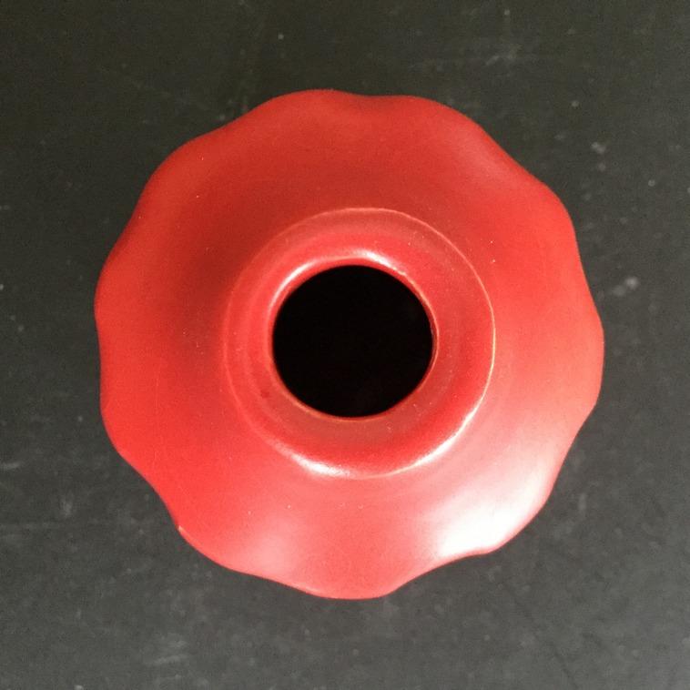 9612 Rot matt, Vase