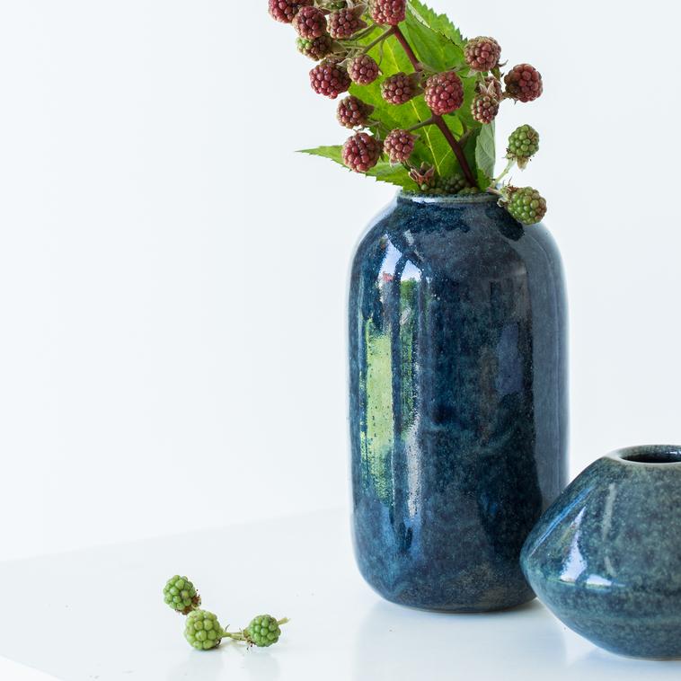 Vase, 9883 Schwarzblaueffekt